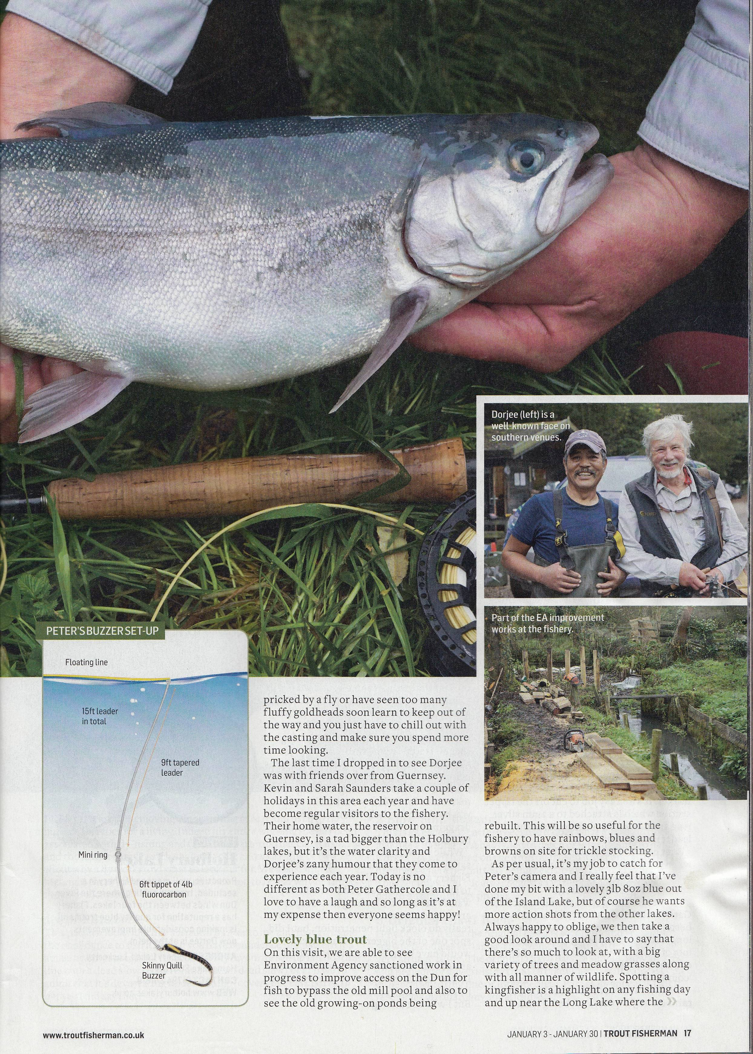 Battling the Blues - Trout Fisherman Holbury Lakes Page 4
