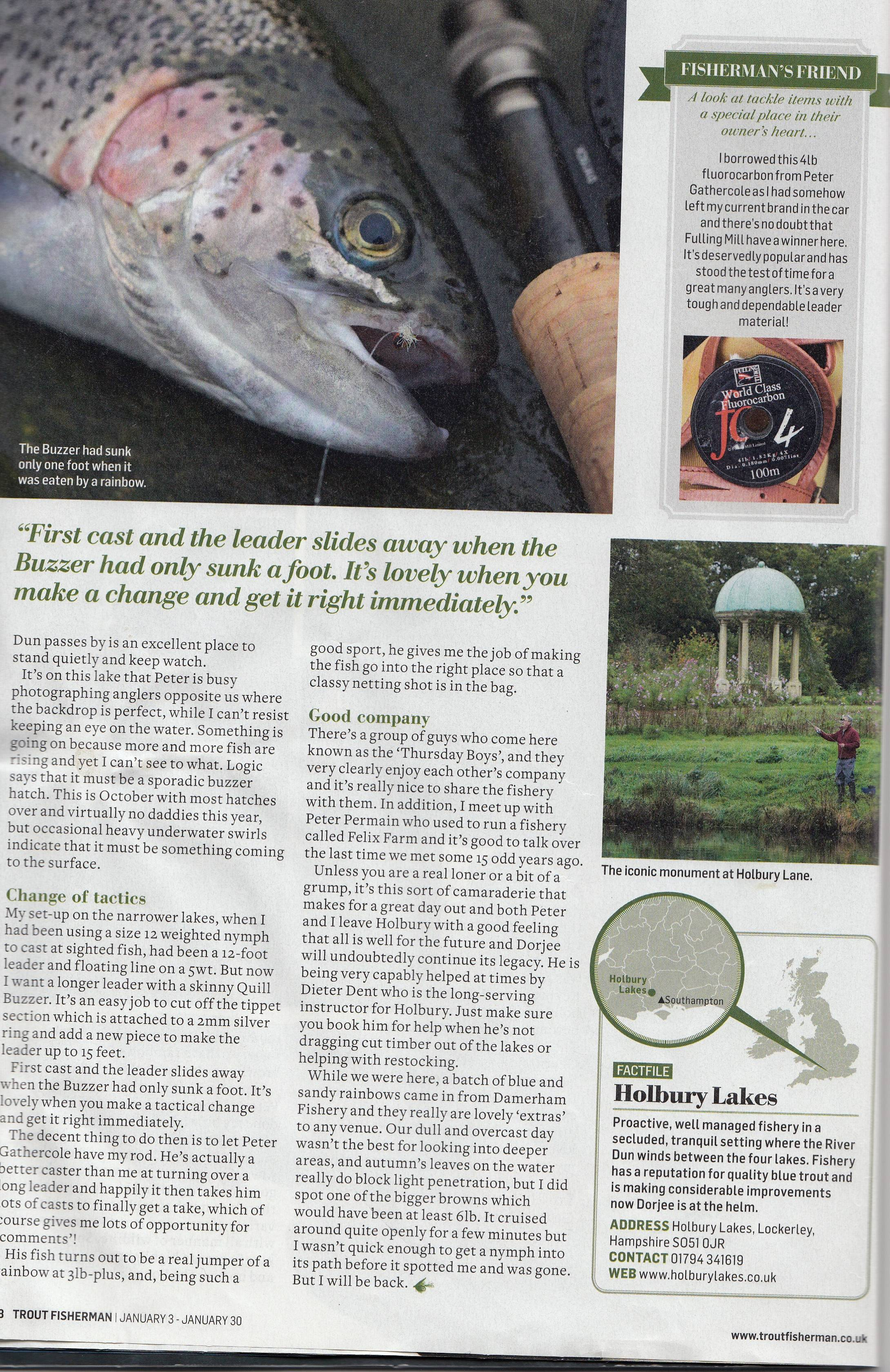 Battling the Blues - Trout Fisherman Holbury Lakes Page 5
