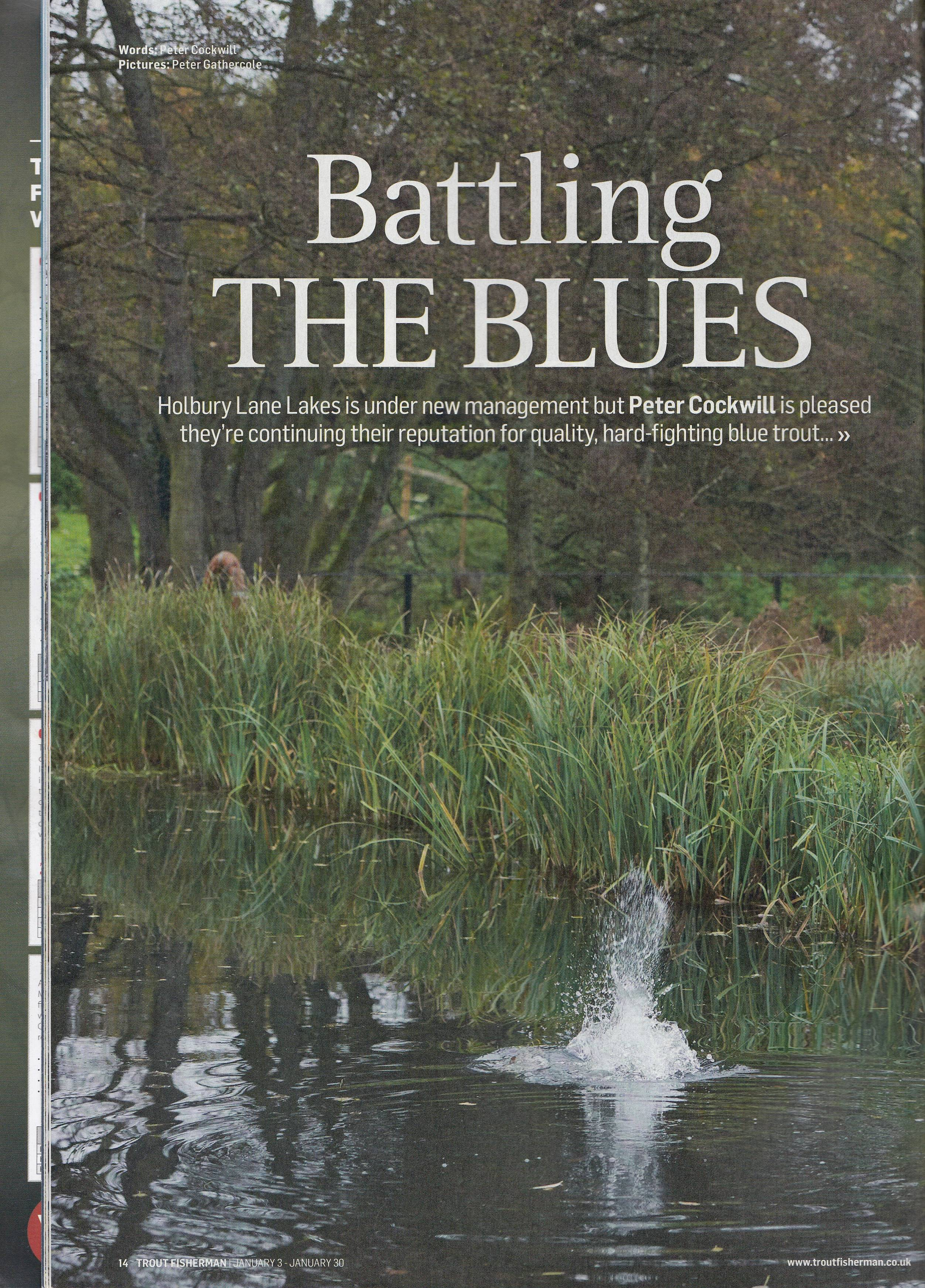 Battling the Blues - Trout Fisherman Holbury Lakes Page 1