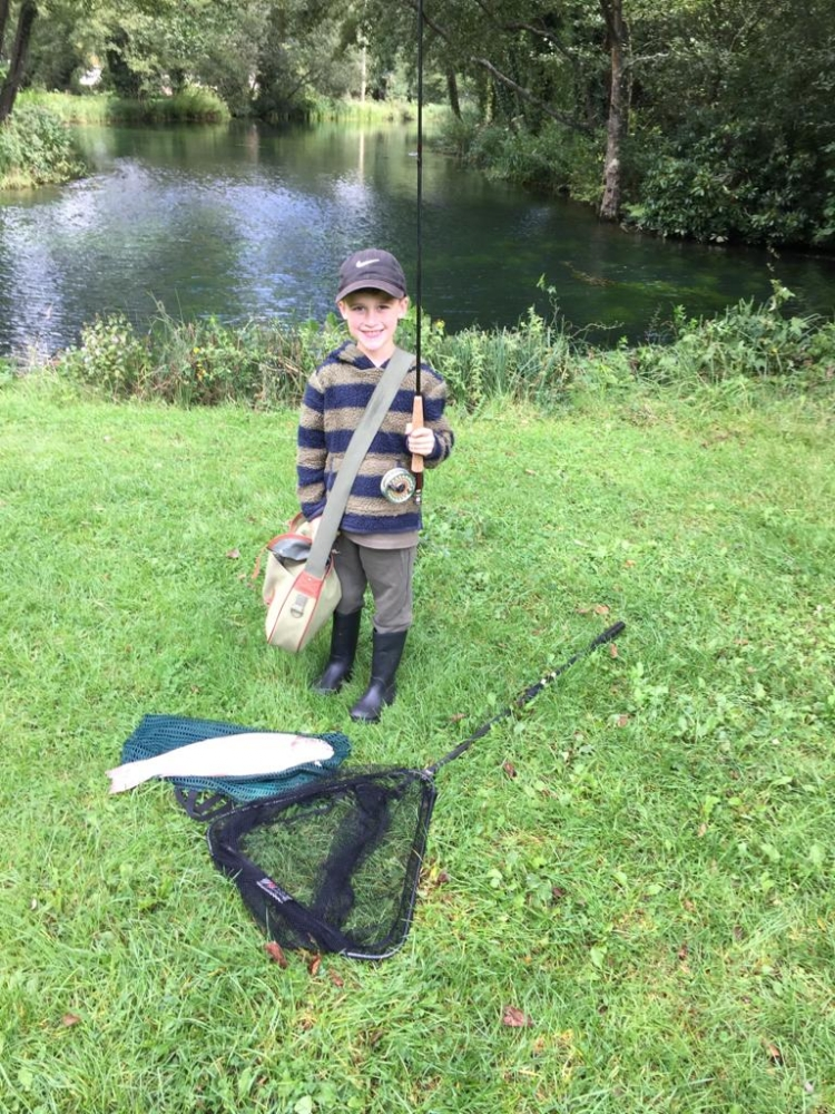 6 year old yang Jake manage landed this lovely about 5 Lb fish form Pond with grand Dad help.