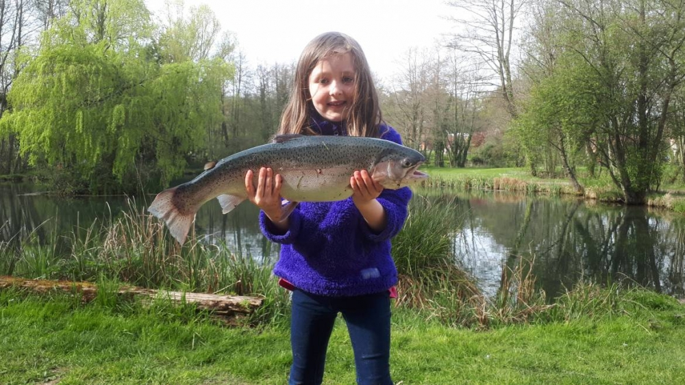 Alice Martin aged 6, 5lb 14oz Trout