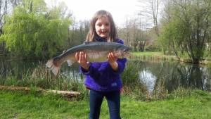 Alice Martin aged 6, 5lb 14oz Trout