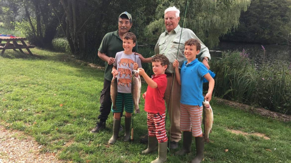 First catch post a fishing lesson with Holbury's Dieter Dent