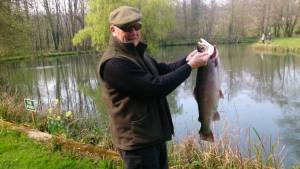 Mr Dennis Parker landed this whopping 10 pounder from pond.