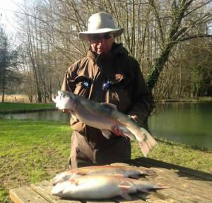 Norrie Johnston with 7lb blue.